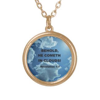 Revelation 1:7 personalized necklace