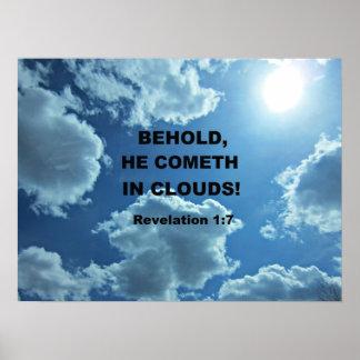 Revelation 1:7 poster