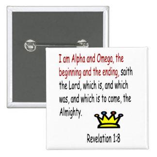 Revelation 1:8 button
