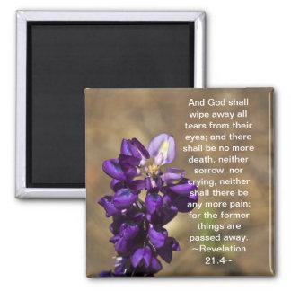 Revelation 21:4 2 inch square magnet