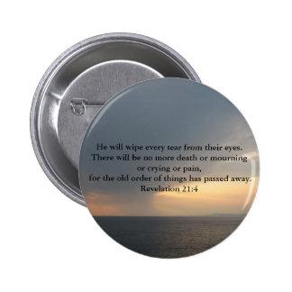Revelation 21:4 2 inch round button