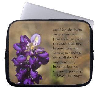 Revelation 21:4 laptop sleeve