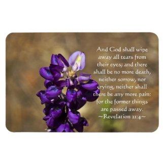 Revelation 21:4 rectangular magnets