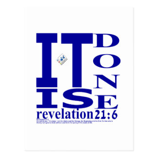 Revelation 21:6 postcard