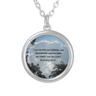 Revelation 22:13 I am Alpha and Omega... Silver Plated Necklace