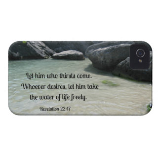 Revelation 22:17 Let him who thirsts, come... iPhone 4 Case-Mate Case
