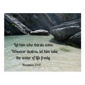 Revelation 22:17 Let him who thirsts, come... Postcard