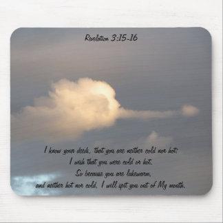 Revelation 3:15-16 mouse pad