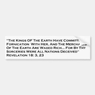Revelation/City of Babylon Bumper Sticker Car Bumper Sticker