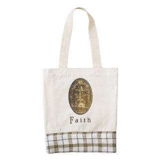 Revelations 3:20 items zazzle HEART tote bag