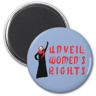 Revele las derechas de las mujeres musulmanes imán redondo 5 cm