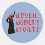 Revele las derechas de las mujeres musulmanes etiqueta redonda