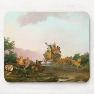 Revellers on a Coach, c.1785-90 (oil on canvas) Mouse Pad