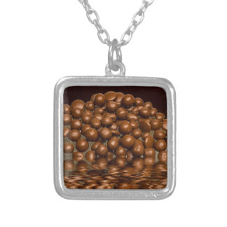 Revels chocolate sweets silver plated necklace