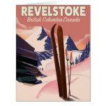 Revelstoke  British Columbia, Canada Ski poster Card