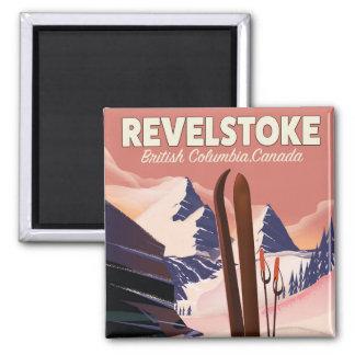 Revelstoke  British Columbia, Canada Ski poster Magnet
