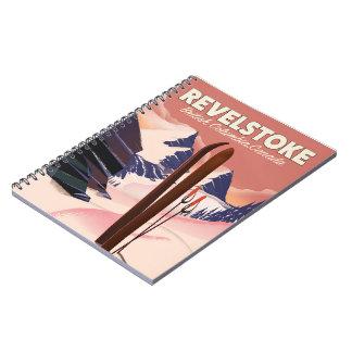 Revelstoke  British Columbia, Canada Ski poster Notebook