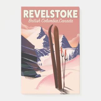 Revelstoke  British Columbia, Canada Ski poster Post-it Notes