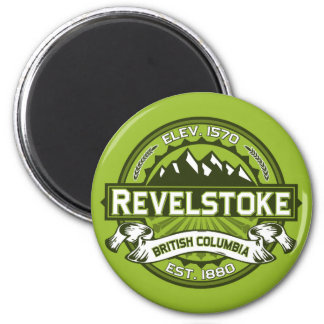 Revelstoke City Logo 2 Inch Round Magnet
