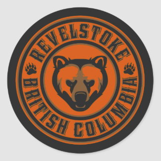 Revelstoke Grizzly Circle Classic Round Sticker