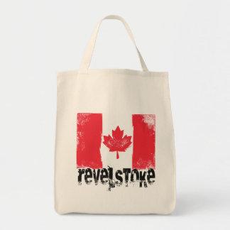 Revelstoke Grunge Flag Tote Bag