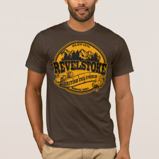 Revelstoke Old Circle Black Gold T-Shirt
