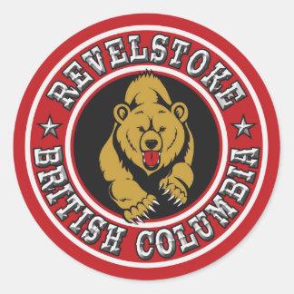 Revelstoke Red Circle Classic Round Sticker