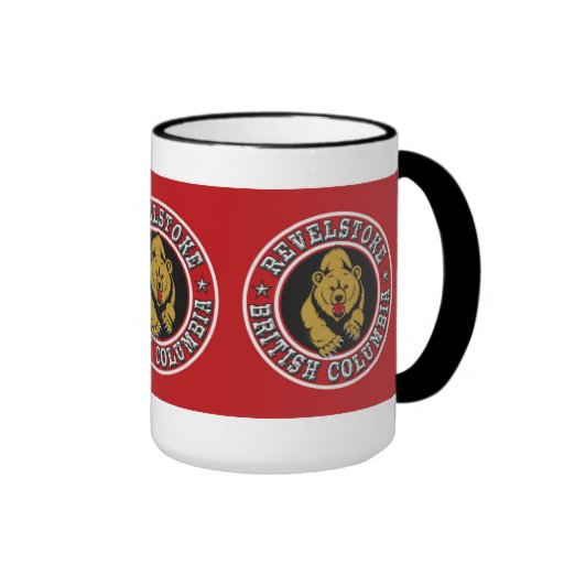 Revelstoke Red Circle Ringer Coffee Mug