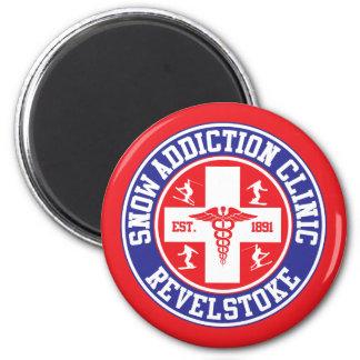 Revelstoke Snow Addiction Clinic 2 Inch Round Magnet