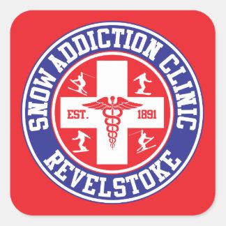 Revelstoke Snow Addiction Clinic Square Sticker