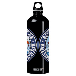 Revelstoke Snowman Circle Aluminum Water Bottle