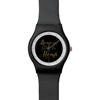 ¡Revendedor Le Monde de Bonjour - hola todos! Relojes De Mano