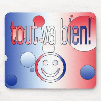 ¡Revendedor va Bien! La bandera francesa colorea a Alfombrillas De Ratón