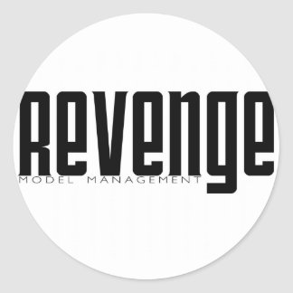Revenge Model Management Classic Round Sticker