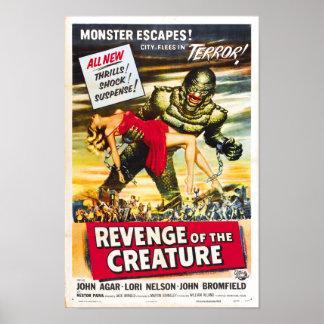 Revenge of the Creature Monster Movie Poster