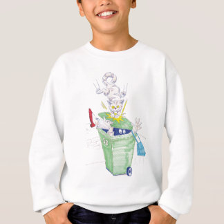 Revenge of the wheelie bin cat! sweatshirt