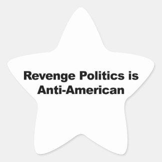 Revenge Politics is Anti-American Star Sticker