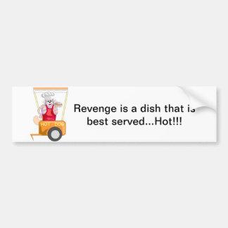 Revenge Served Hot Bumper Sticker Car Bumper Sticker