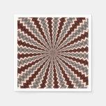 Reverberation Kaleidoscope Pattern Paper Napkin