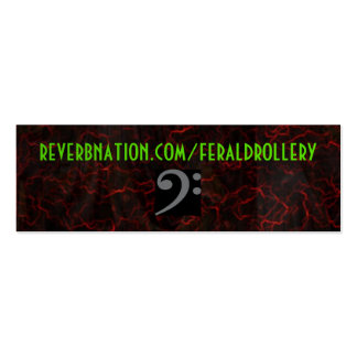 Reverbnation FD Card Double-Sided Mini Business Cards (Pack Of 20)