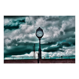 Revere Beach Clock 2 Poster