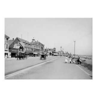 Revere Beach Mass 1905 Print
