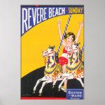 Revere Beach Vintage Travel Poster Artwork