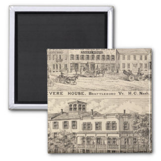 Revere House and Crosby Block in Brattleboro Refrigerator Magnets