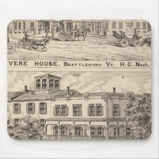 Revere House and Crosby Block in Brattleboro Mouse Pad