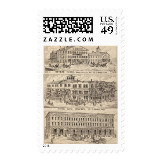Revere House and Crosby Block in Brattleboro Postage