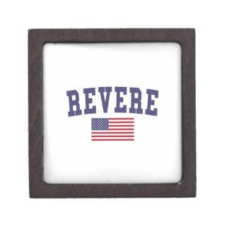 Revere US Flag Jewelry Box