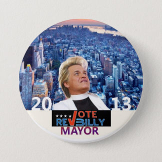 Reverend Billy Talen for NYC Mayor 2013 Pinback Button