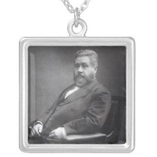 Reverend Charles Haddon Spurgeon Square Pendant Necklace