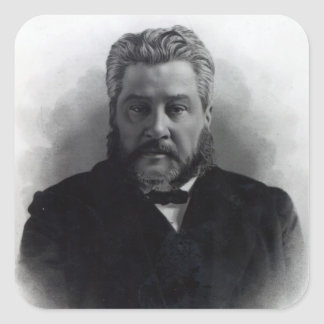 Reverend Charles Haddon Spurgeon Square Stickers